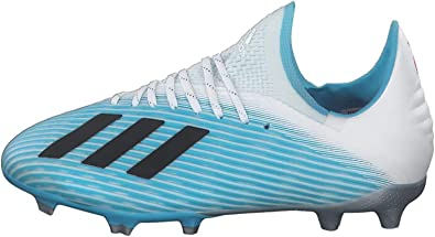 adidas X 19.1 FG Niño, Chaussure de Foot, Bright Cyan Core