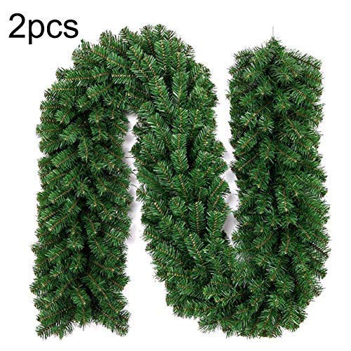 THEE Christmas Garland Artificial Pine Wreath Garlands Xmas Decorations 8.9ft/2.7M ()