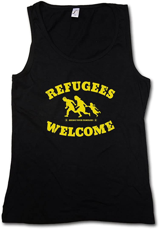 Urban Backwoods Refugees Welcome Mujer Camiseta Sin Mangas ...