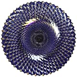 Glass Jewel-Tone Decorative Plate - 11 inches