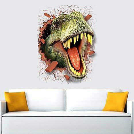MG Fly Young pegatinas de pared mural 3d pegatina de pared Dinosaurios para habitaciones adhesivos papel pintado de pared decoración