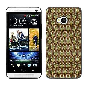 ZECASE Funda Carcasa Tapa Case Cover Para HTC One M7 No.0003059