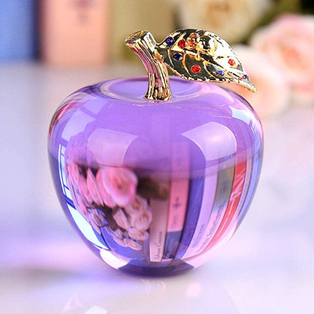 HKDHI Statues 80MM Crystal Apple Wedding Crystal Ball Craft