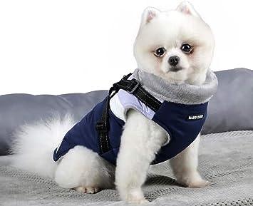BabyDog Abrigo Chaleco para Perro con Forro Polar, Arnés con ...