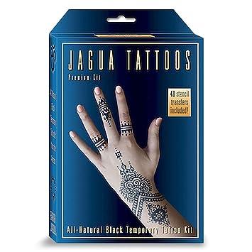 Amazon Com Organic Jagua Black Temporary Tattoo And Body Painting