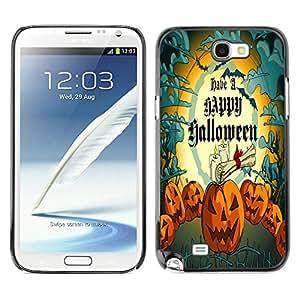 Dragon Case - FOR Samsung Note 2 N7100 - Happy Hallowen party - Caja protectora de pl??stico duro de la cubierta Dise?¡Ào Slim Fit