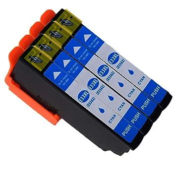 Caidi Reemplazo para Epson 33XL 33 Cartuchos de Tinta Alta ...