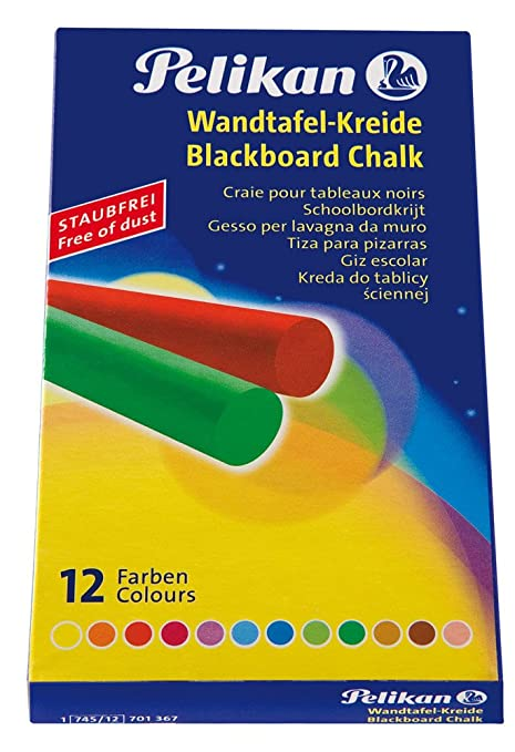Amazon.com: Pelikan Wall Blackboard Chalk 745 12, Coloured ...