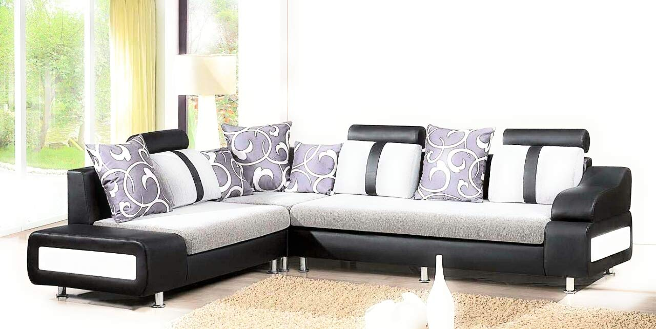 Rehmans Black Corner Sofa Set Amazon In Home Kitchen