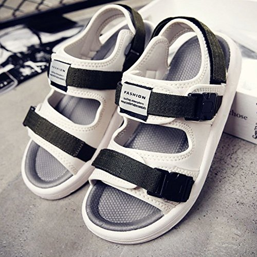 LVZAIXI Mens Nubuck Activity Velcro Sandals ( Color : Black , Size : 43 ) Green
