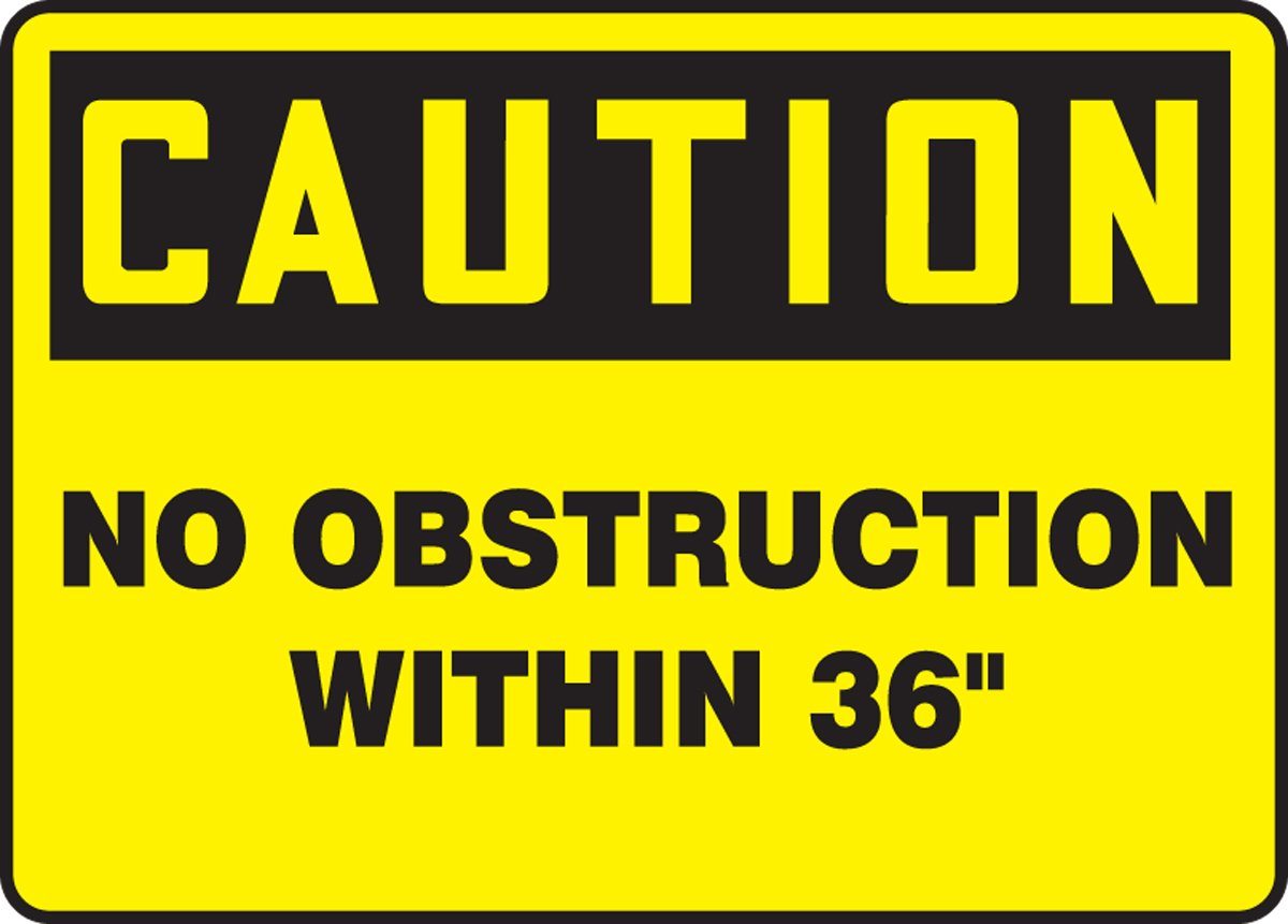 10 Height 10 Length x 14 width x 0.004 Thickness LegendCaution No Obstruction Within 36 Accuform MVHR675VS Adhesive Vinyl Sign Vinyl 14 Wide 10 Length black On Yellow 10x14 LegendCaution No Obstruction Within 36 10 Height 14 Wide