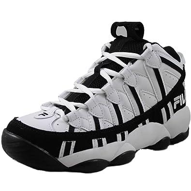 54ad9c4823a3 Fila Spaghetti Boys Basketball Shoes 3VB90032-110 White 7 M US