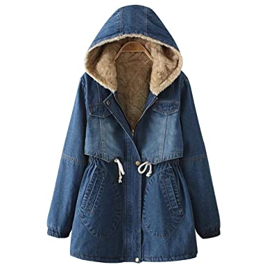 Women's hooded denim jacket