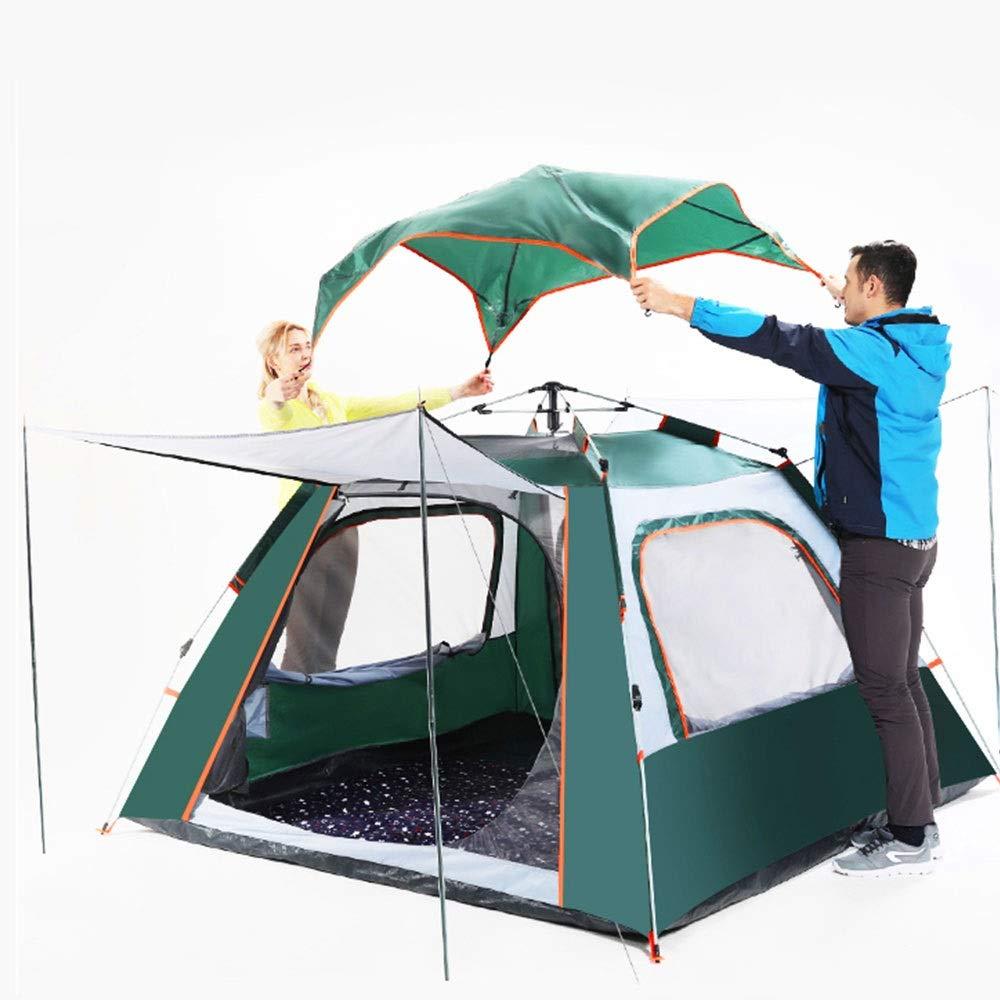 ZR Im Im Im Freien automatisches Zelt 4-6 Leute Starkes regendichtes wildes kampierendes einlagiges Zelt der Vier Jahreszeiten blau (Farbe   Grün) B07P5S6M8D Kuppelzelte Attraktive Mode 212a24