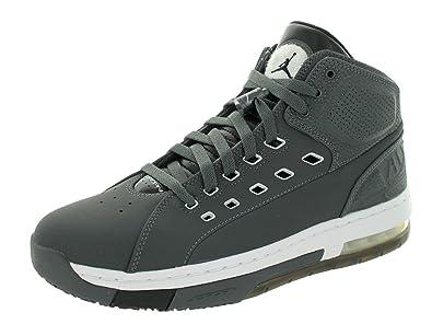 Nike Jordan Mens Jordan OlSchool Dark Grey/White/Black/White Basketball  Shoe 8.5