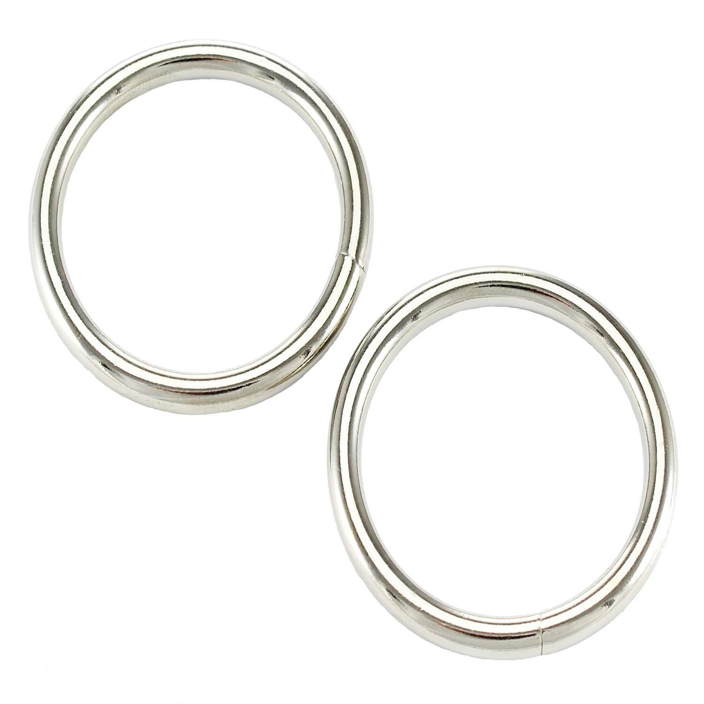 50 Rundringe 16 x 2,5 mm O-Ring Stahl Vernickelt Eisenring Stahlring