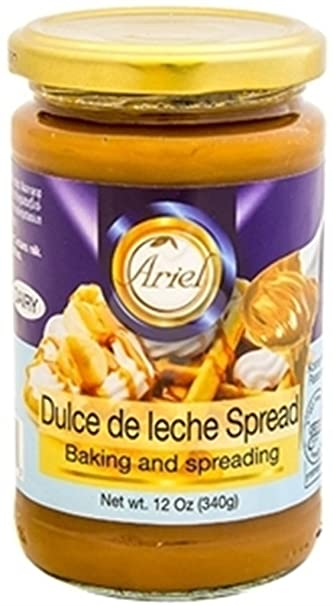 Ariel Dulce De Leche Spread Kosher For Passover 12 Oz. Pack Of 6.