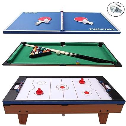 99c3b61744a Amazon.com   CWY 3 in 1 Air Hockey Ping Pong Billiard ...