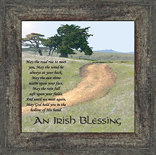 An Irish Blessing Picture Frame, An Irish Blessing, Irish Blessing Picture Frame, May the Road Rise to Meet You, 10x10 8586BW