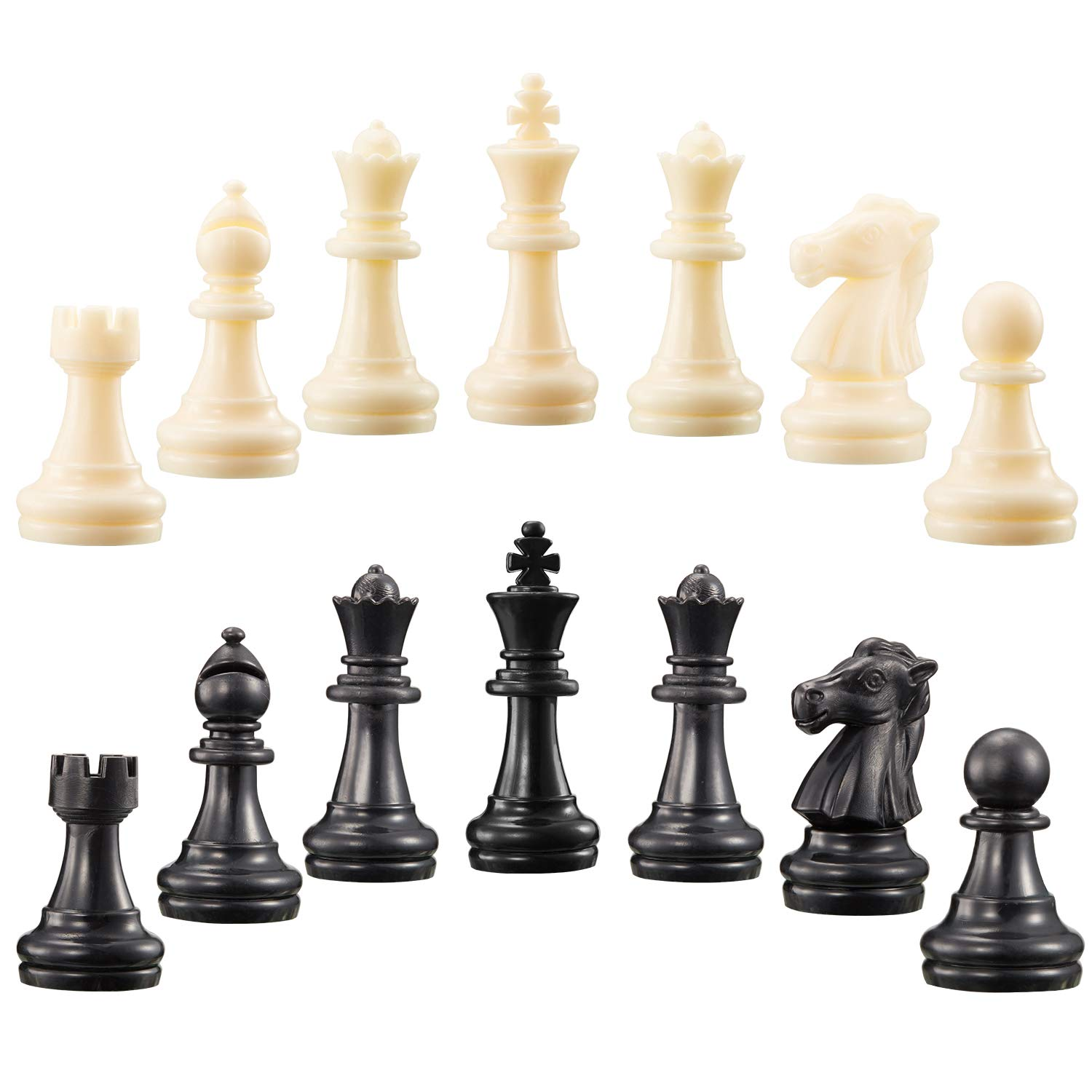 2 Sets Chess Pieces Chess Pawns Tournament Chess Set For Chess Board Game Pieces Only And No Board White And Black