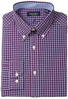 Nautica Men's Tartan Plaid Dress Shirt