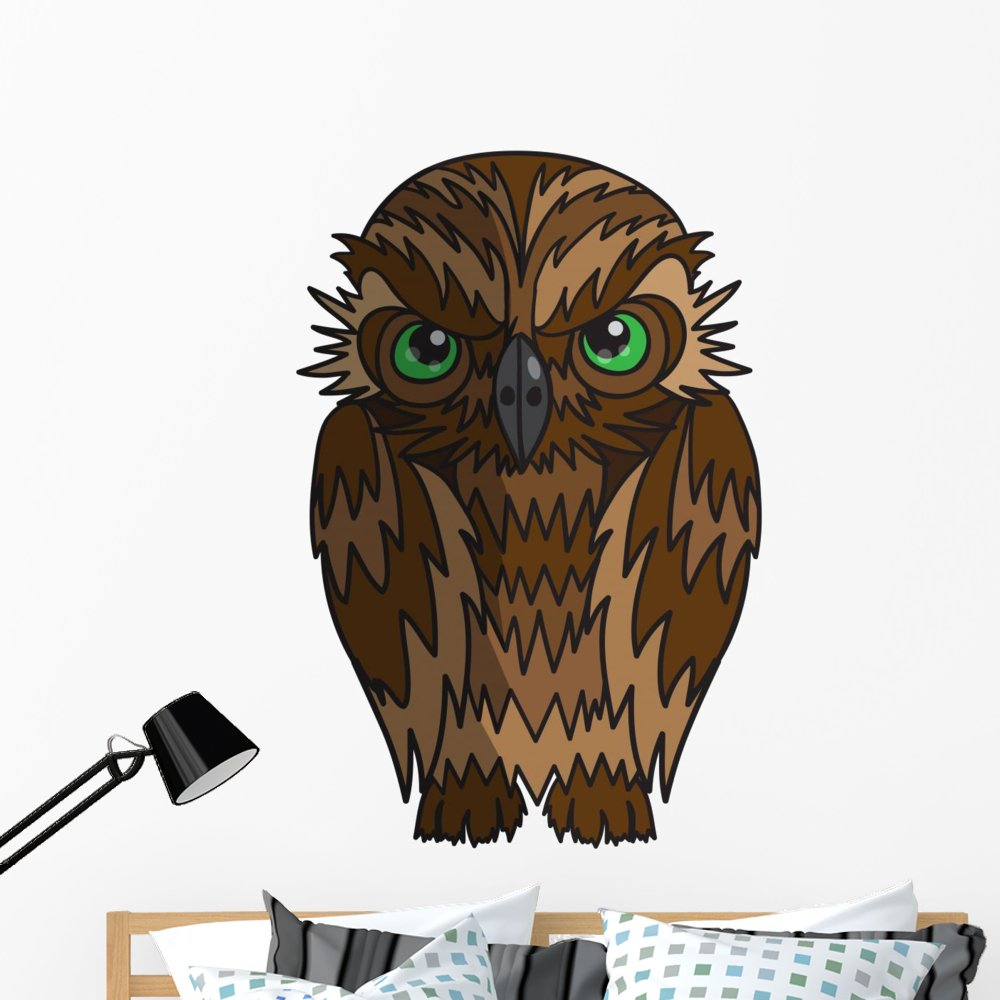 Wallmonkeys Cartoon Owl Wall Decal Peel and Stick Graphic (48 in H x 48 in W) WM71396