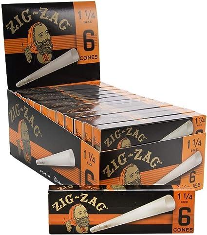 Rolling Pre Rolled Tips 3 PACKS Zig-Zag Paper Cones 1 1//4 1.25 18 Cones Total