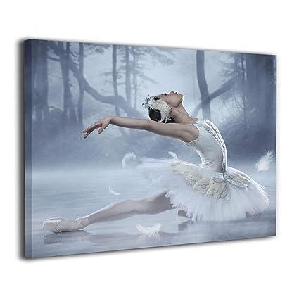 Amazon com: Canvas Wall Art Swan Lake Ballerina Painting