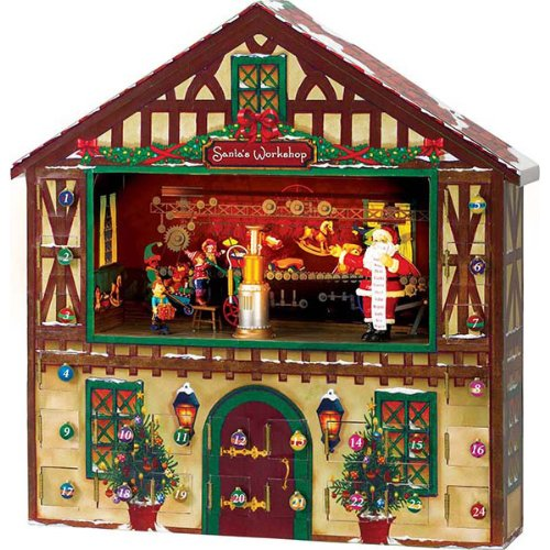 Mr. Christmas Animated Advent Calendar House & Santa's Music Box by Mr. Christmas (Image #1)