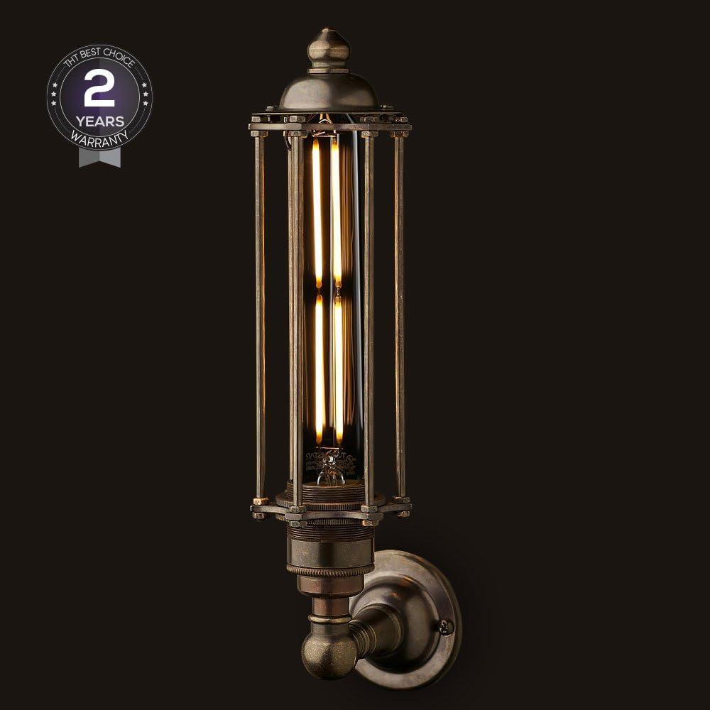 2700K Soft White Bulb for Decoration Dimmable Long Tube Edison Light Bulb UL Listed TORCHSTAR Vintage LED Filament Bulb 120V 4.5W Tubular Antique Bulb 40W Eqv. Pack of 3 T30 T10