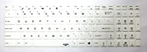 BingoBuy US Layout Keyboard Protector Cover Skin for MSI GL63 GS75 GE75 GS63 GP63 GE63 PE60 PE70 GE62 GE72 GL62 GL72 GP62 GT62 PL60 CX62 WE62 WS63 GP72 GT72 GS73VR GT73VR WT73 WS72 GE73 (White)
