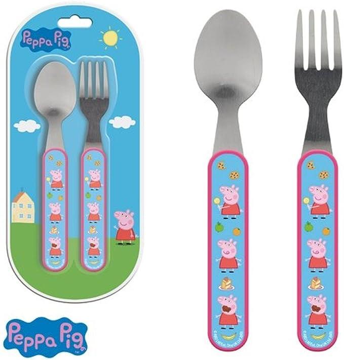 Cubiertos Peppa Pig: Amazon.es: Juguetes y juegos