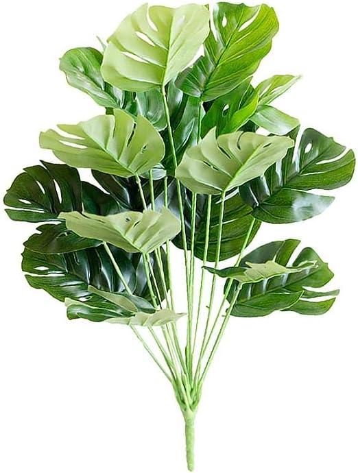 Llxxx flores-4PC 1pc Grandes Hojas de Palmera Monstera Tropical Plantas Artificiales Plantas Verdes de plástico Plantas Falsas Accesorios de decoración de jardín para el hogar: Amazon.es: Hogar