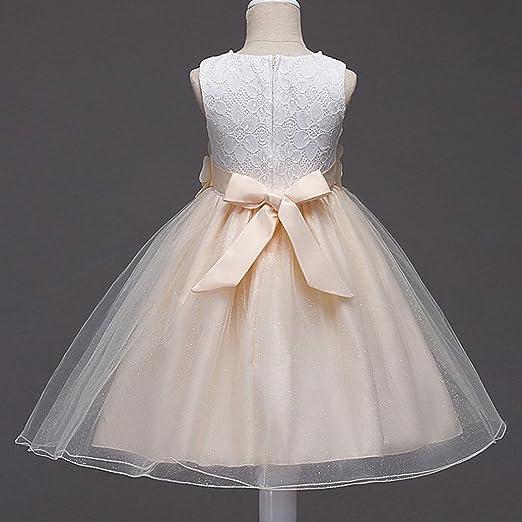 Vestido para niña, de Sonnena, con encaje y tutú de tul, traje de princesa, para concursos de belleza, dama de honor, para boda, elegante, fiesta, ...