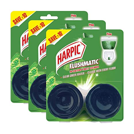 Harpic Flushmatic Twin Pine - 100 g (Pack of 3)