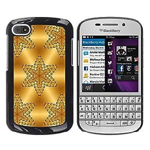 For BlackBerry Q10 Case , Stars Pattern Polygon Glitter - Diseño Patrón Teléfono Caso Cubierta Case Bumper Duro Protección Case Cover Funda