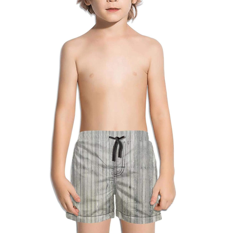 etstk Rustic Wooden barn Farmhouse Rural Kids Comfortable Swim Trunks for Boys