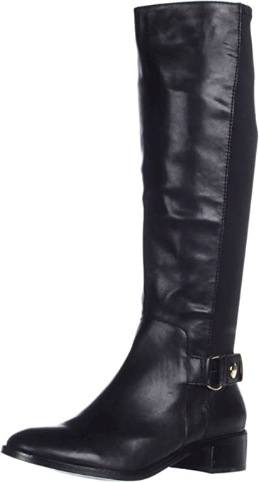 Fitflop Womens FF-Lux Full Zip Knee-High Leather Boot Shoe All Black US 8