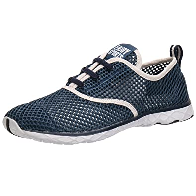 Aleader Men's Quick Drying Aqua Water Shoes Blue ...