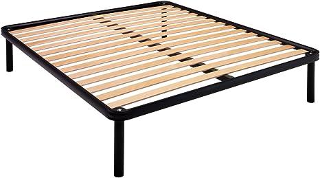 Somier de láminas estrechas para cama de plaza y media, 115 x ...