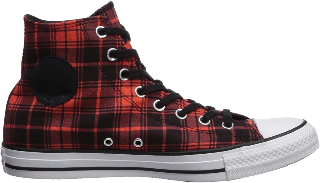 36d7b6f78ae1cf Converse Men s Chuck Taylor All Star Plaid High Top Sneaker