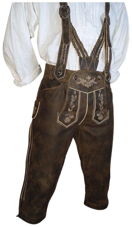 Gr.44-74 Trachten-Kniebund Lederhose Speckig Trachtenlederhose Leder Hose Patina