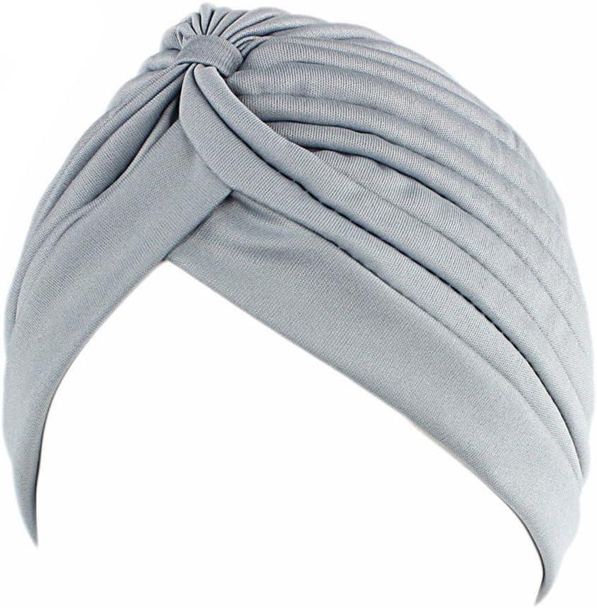 ZOOMY Femmes Hommes Turban Head Wrap Band Band Bandana Hijab Pliss/é Indian Cap Caf/é