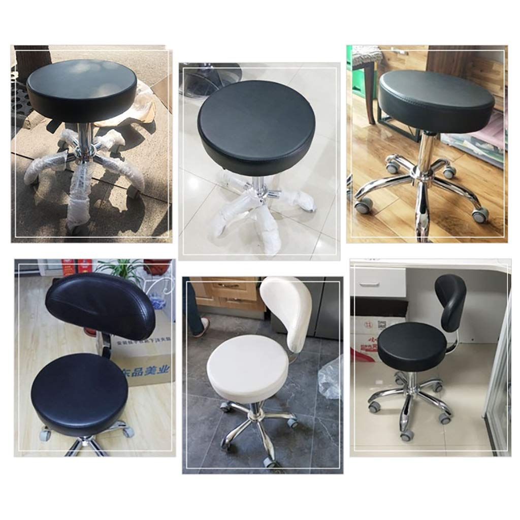 Amazon.com: Round Swivel Stool With Wheels Adjustable Height ...
