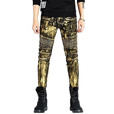 Hombre Vintage Look Destroyed Pantalones Vaqueros, 2018 New ...