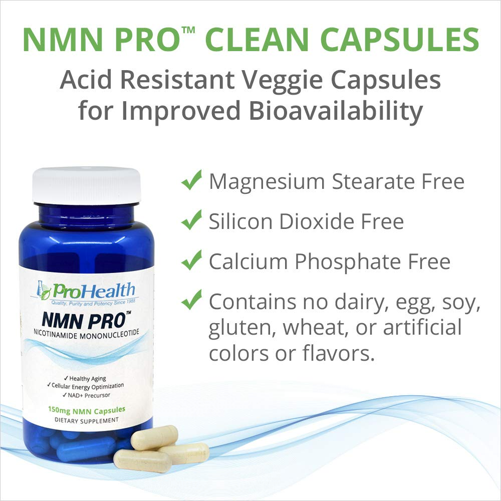 ProHealth NMN Pro 3 -Pack (150 mg, 60 Veggie Capsules) Nicotinamide Mononucleotide | NAD+ Precursor | Supports Anti-Aging, Longevity and Energy | Non-GMO by ProHealth (Image #3)