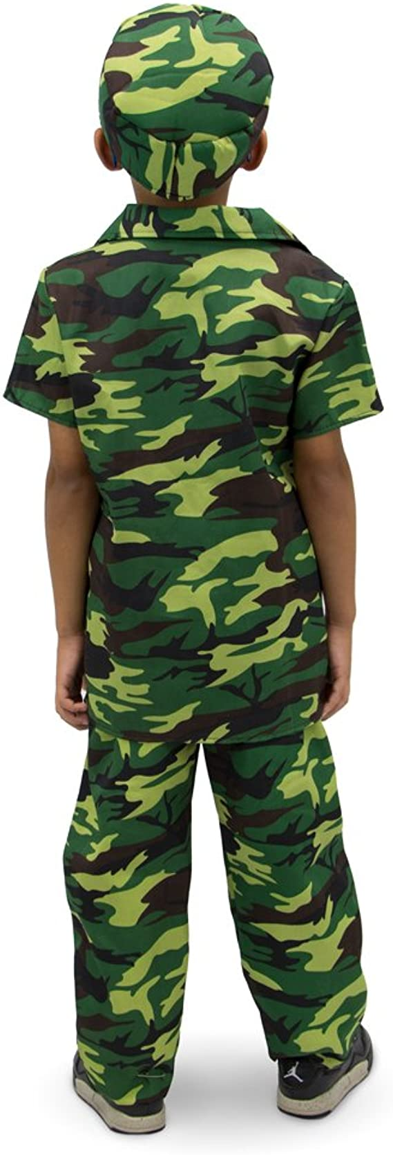 Hat Camouflage Casual Top FancyDress AGE 5-13 Children's Kids Boys Army T-shirt