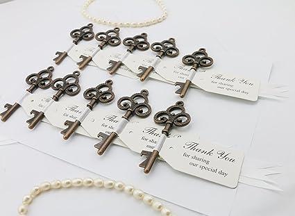 Amazon.com: 30pcs Copper Wedding Favor Skeleton Key Bottle Openers