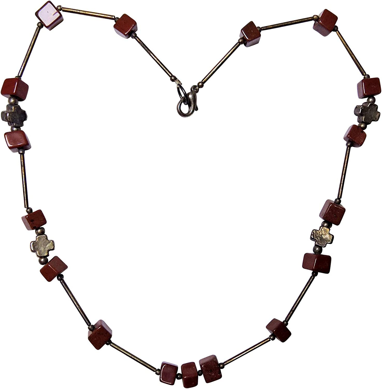 Satyamani Natural Red Jasper Free Shape Pendant