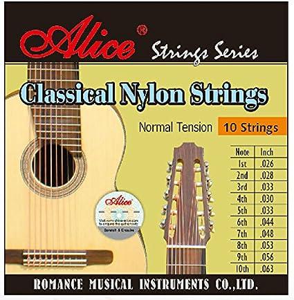 Alice ac1032 C Clear Nylon herida de aleación de cobre 10 cuerdas ...